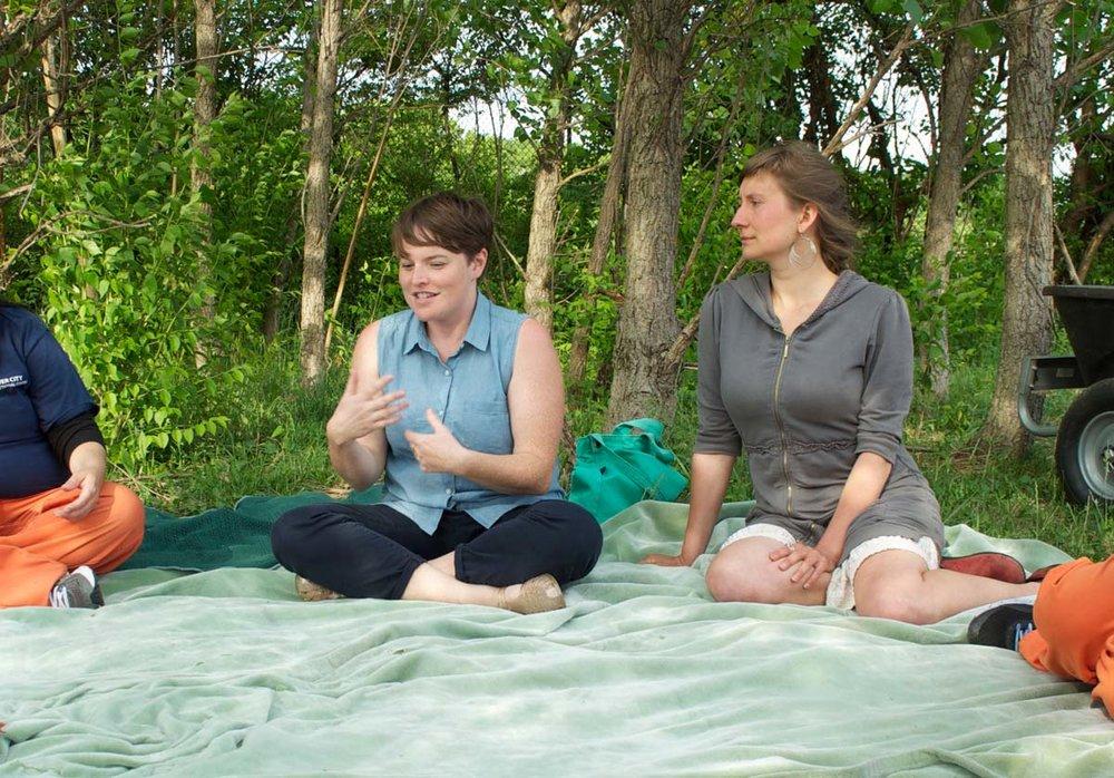 Erin Johnson (left). Image: Wave Pool