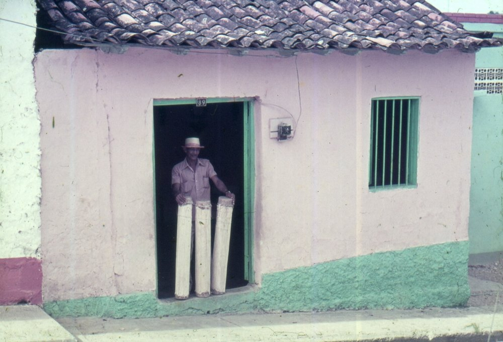 Man with drums in the Barlovento region, 1977 Credit: Oswaldo Lares