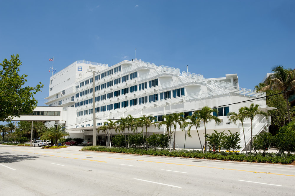 Originally built in 1956 as the Yankee Clipper, named after its shiplike structure, the hotel quickly became a popular place to visit for American favorites Marilyn Monroe, Joe DiMaggio and Robert De Niro to name a few. As one of the few beachfront hotels in the city along the Atlantic Ocean, B Ocean Resort incorporated historic elements and blended them to create a more modern, sleek, and stylish feel.