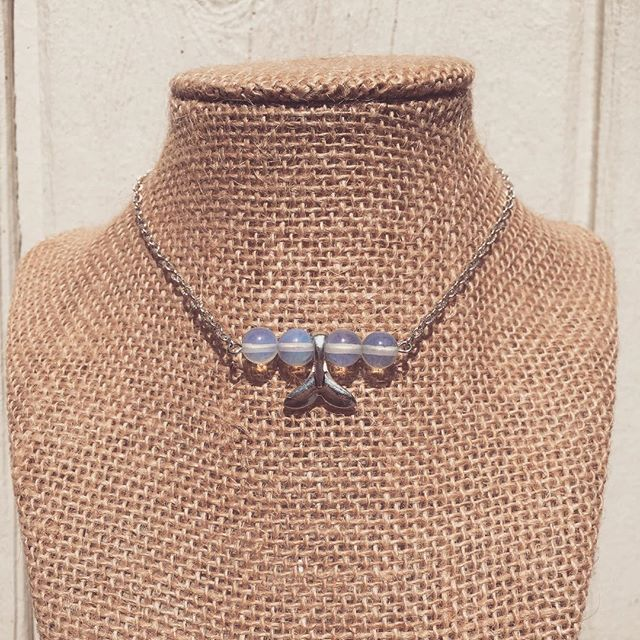 Mermaid's Moonstone Choker 🌊🐳🐬 Final day to pick up a FREE pair of earrings with purchase!! We are Carving out Some Good Times with our Trick o' Treat Yo Self Sale! 🎃 Link in bio!