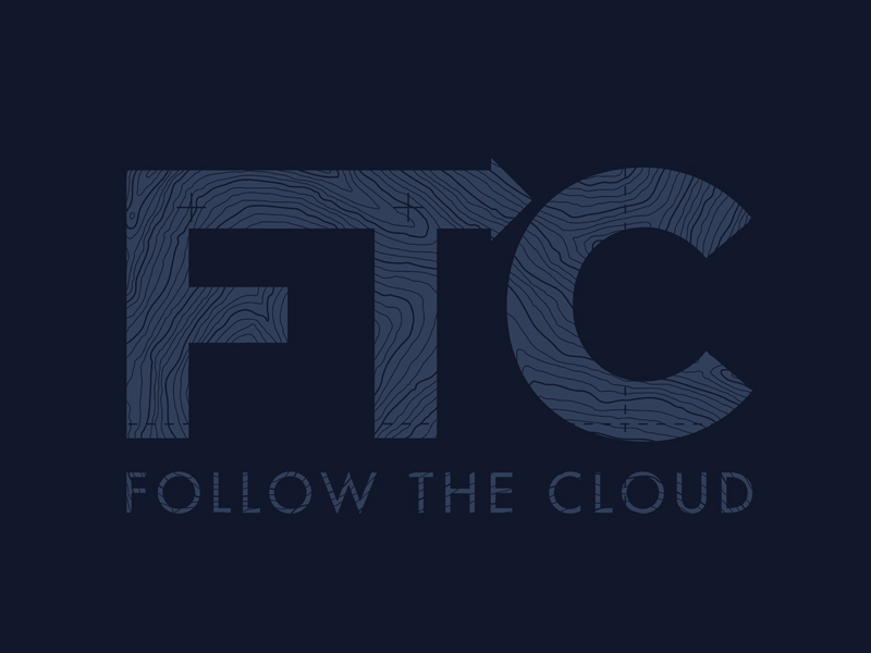 "I created this logo in support of John Stickl's excellent new book called "" Follow The Cloud "". Click  here  to explore the ""Packaging and Apparel"" section of the site and how the logo was used as a promotional tool to back this awesome project."