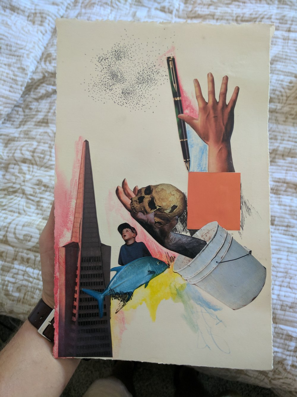 - The work from the collage that convinced me of the beauty in art blocks has led me in so many different directions.