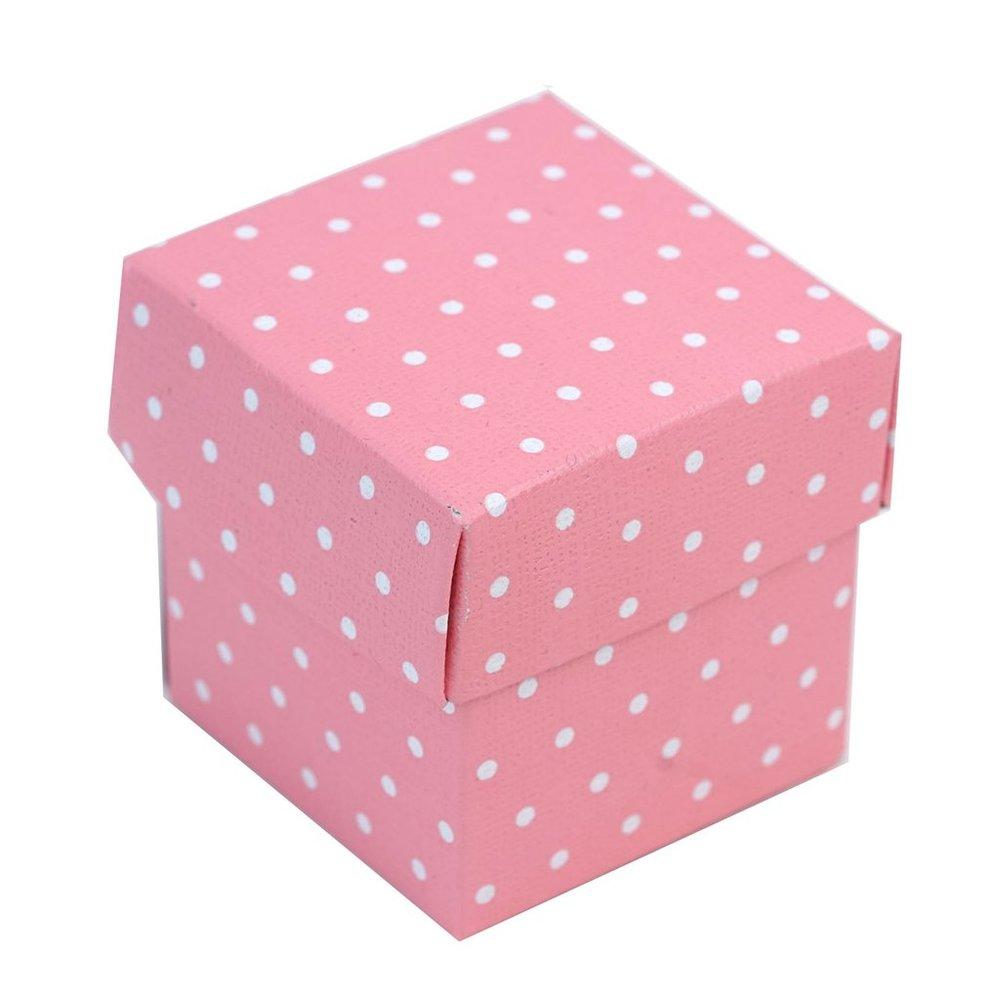 Pink polka dot Favor Box | Crissy\'s Crafty Candies
