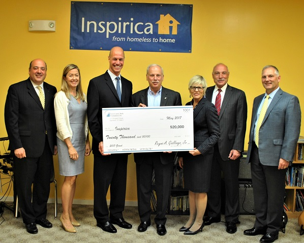 Inspirica, Inc. Awarded $100,000 Grant                           from First County Bank Foundation, Inc.                                         September 2017