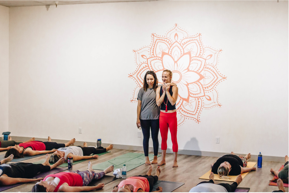 Old Town Yoga Studio (Pictured: Desiree Heckman and Crystal Uyeno)  Photo Credit: Kati Beshore