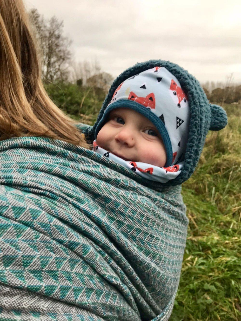 Bébé Sachi Rebung Erinite handwoven baby wrap