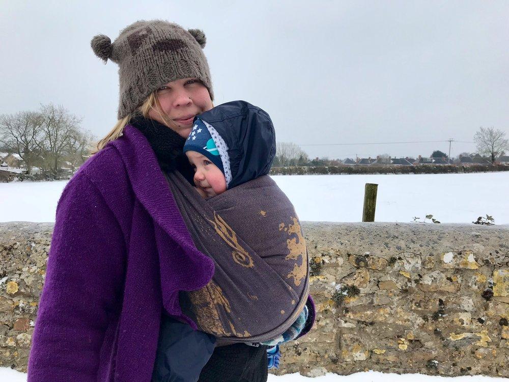 Firespiral Slings Cloudburst Moorland Seafoam in the snow