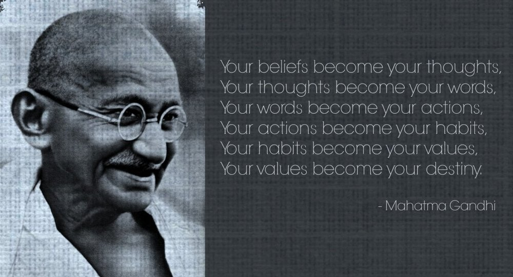 Gandhi smiling quote