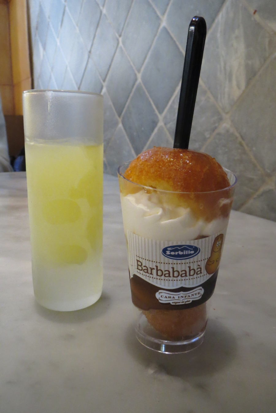 Limoncello & baba'....what else? at Sorbillo,  Via dei Tribunali, 32, 80138.