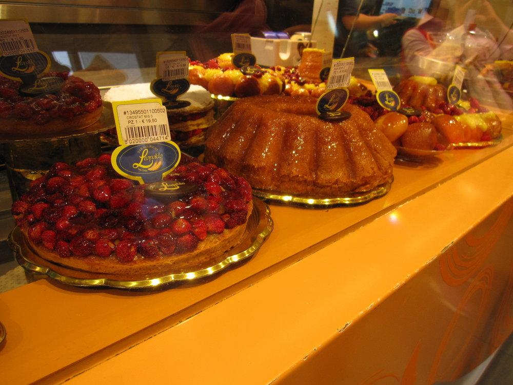 Stunning cakes at Leopoldo.