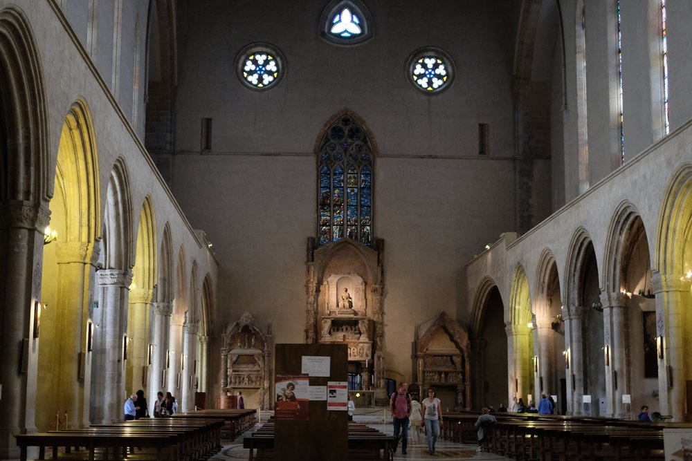 The medieval interior.