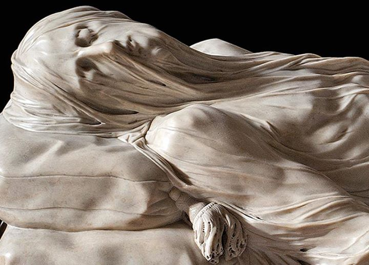 Detail of the Veiled Christ by Giuseppe Sanmartino (1753)