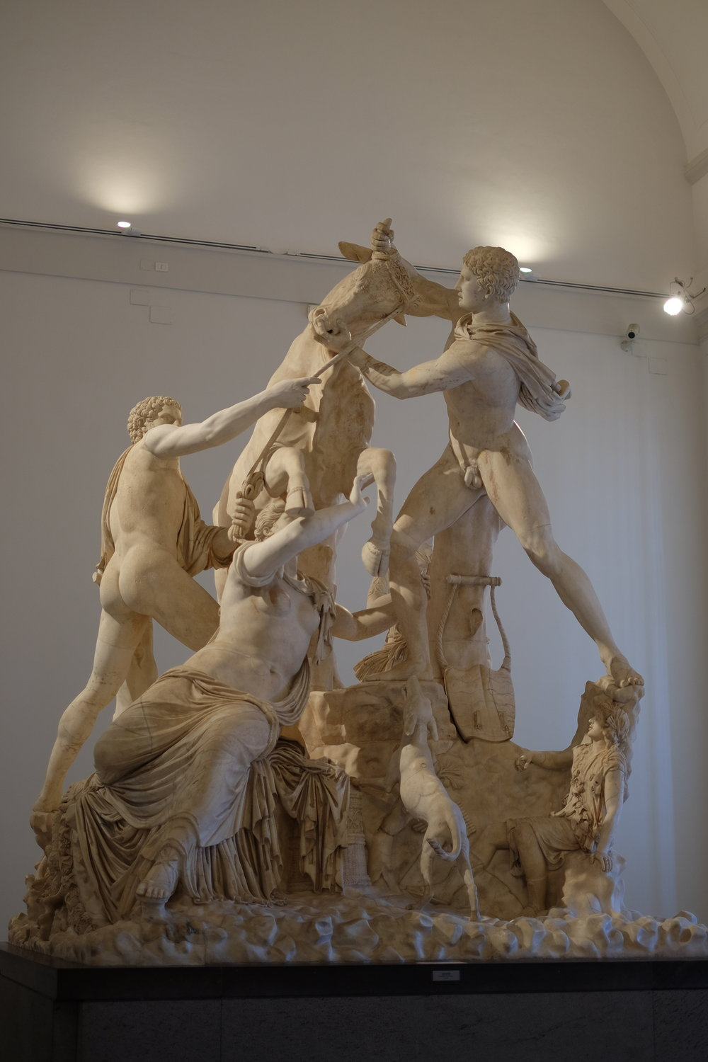The Farnese Bull, made from a single block of marble.