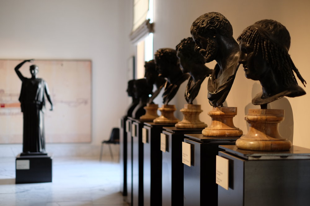 Statues and busts from the Papyrus Villa in Herculaneum.