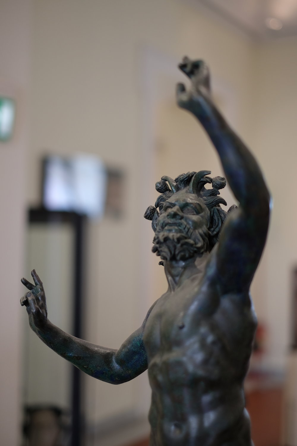 The original statue from the House of the Faun in Pompeii.