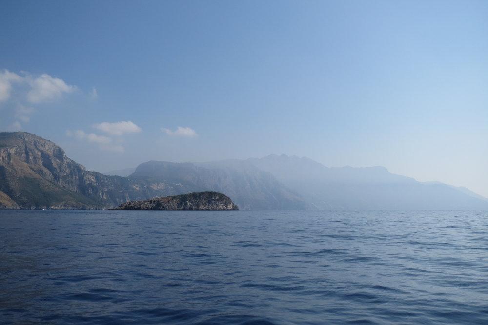 The amazing coastline of the Sorrentine Peninsula.
