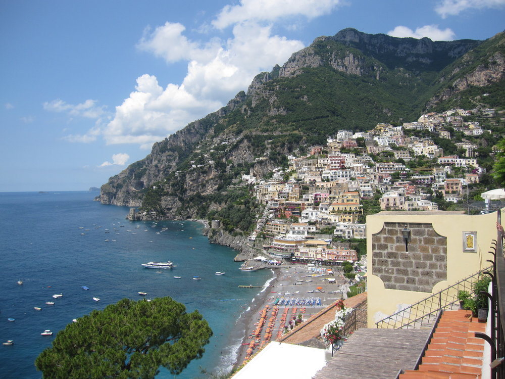 The stunning view of Positano.