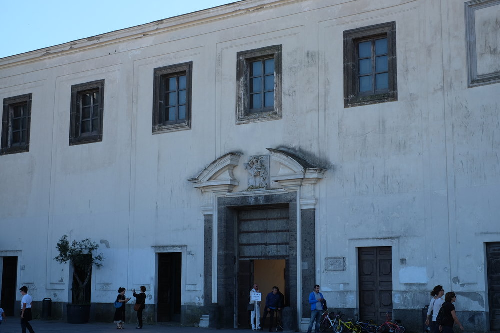 Entrance of the convent and museum.