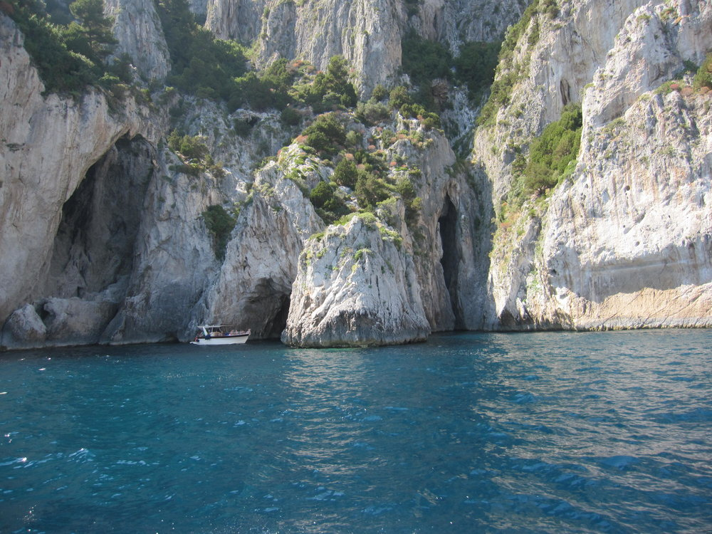 The entrance to one of the many grottos along the coast.