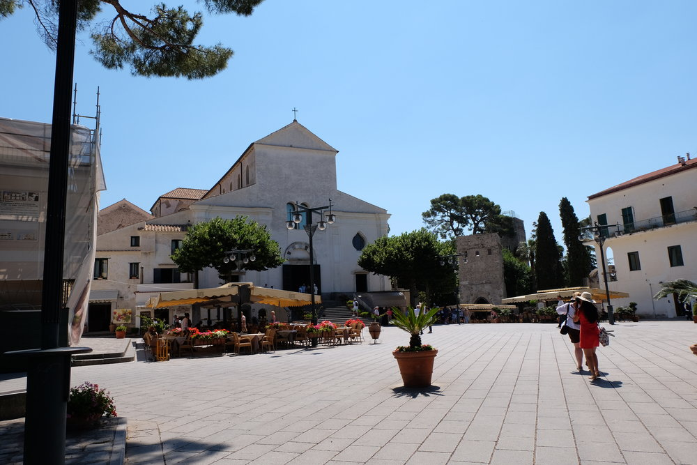The main square with the Cathedral at the centre.