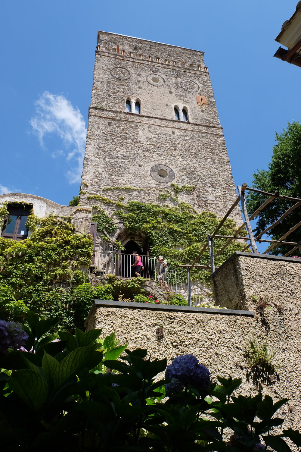 The tower of the villa.