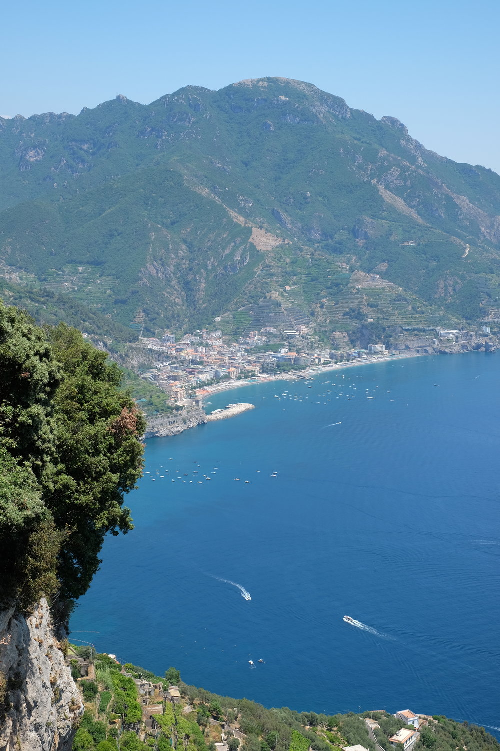 The beautiful view of Minori from Ravello.