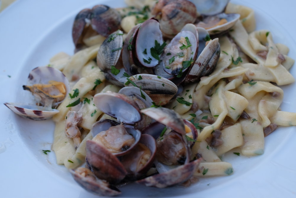 another must try dish: scialatielli (fresh hand made pasta) with clams.