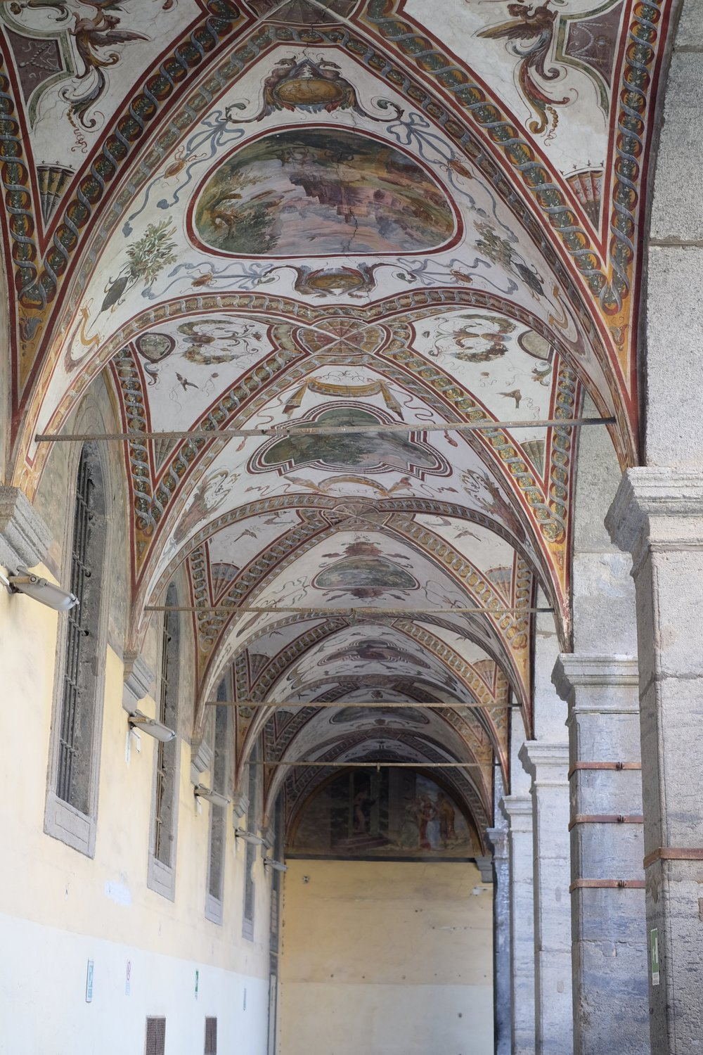 Frescoes of the hospital courtyard.