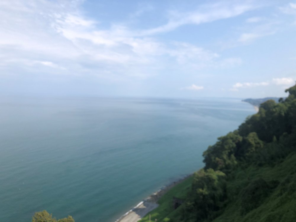 View of the Black Sea on the way to the hawk watch site.