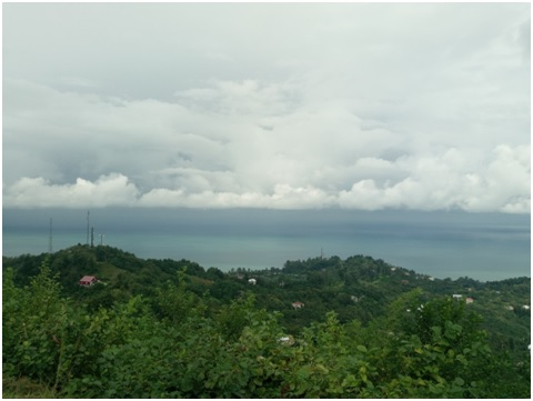 View of Batumi and the Black Sea from Station 1 - Sahalvasho
