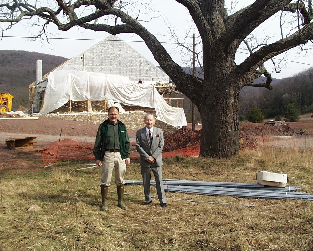 Sarkis Acopian and Dr. Keith Bildstein check out the construction site.