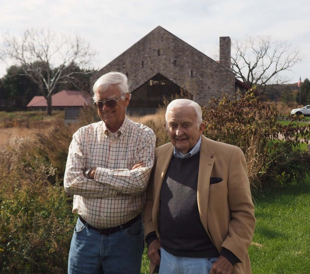 Fred and fellow board member Minturn Wright standing outside the Acopian Center for Conservation Learning.