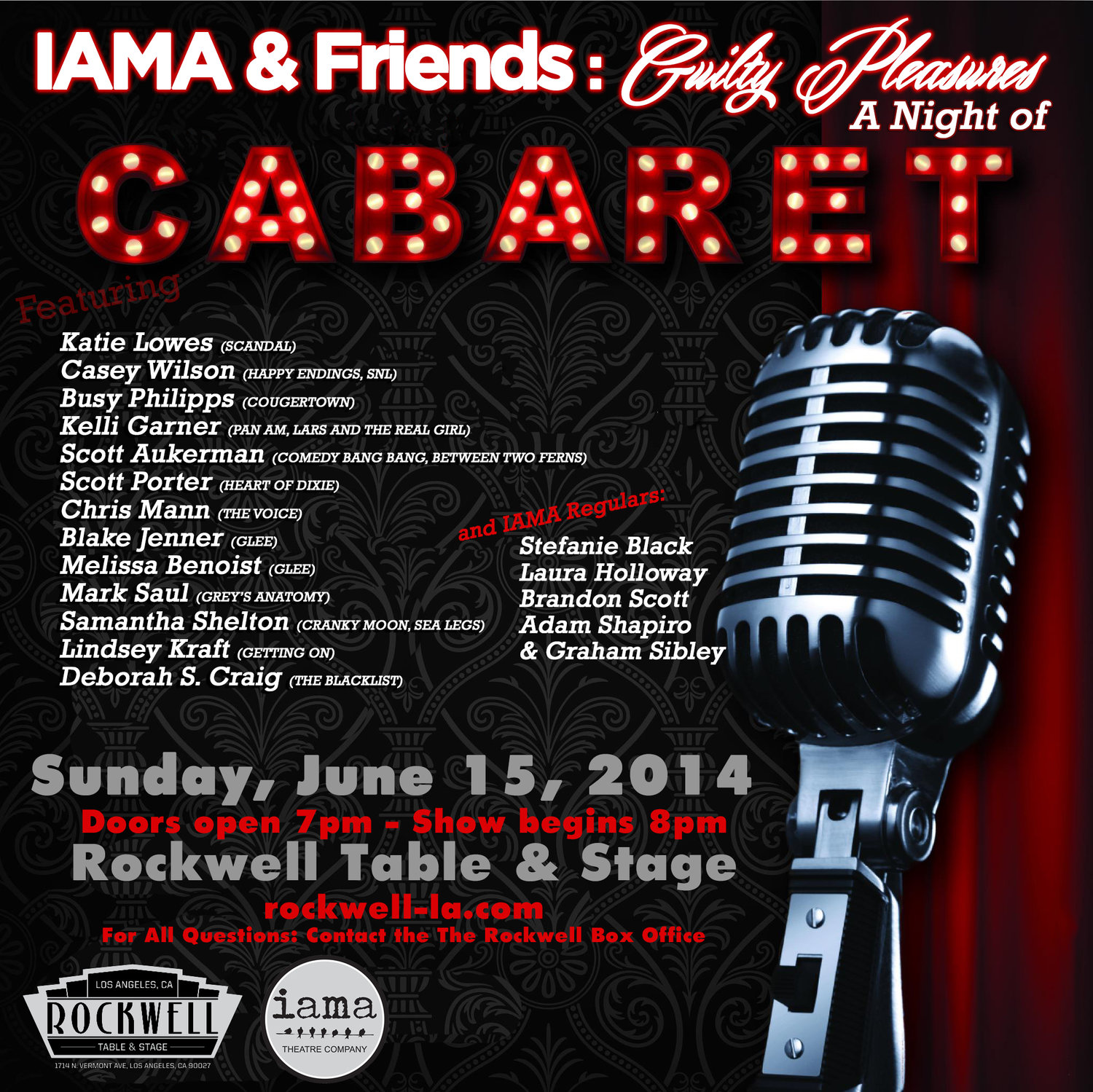 IAMA Cabaret: A Night of Guilty Pleasures — IAMA Theatre Company