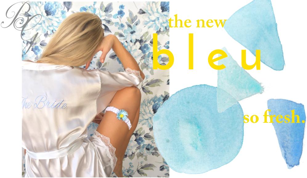 Bleu Garters modern bridal garters