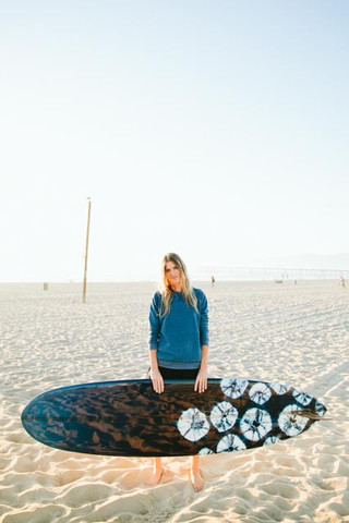 The MiA Project Bleu Garters Made in America surf Almond Surfboards and Designs