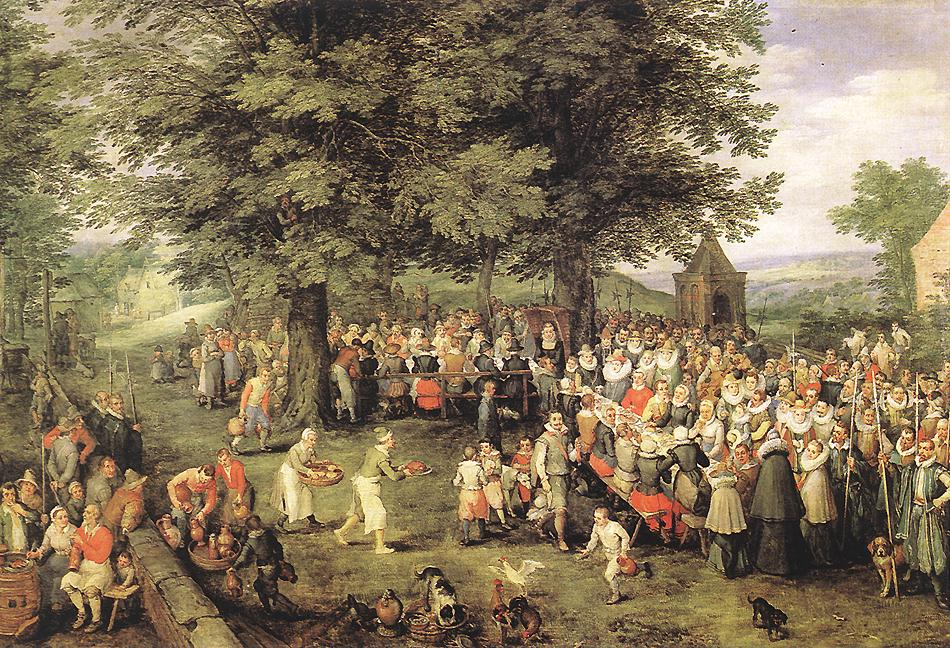 The wedding feast , unknown