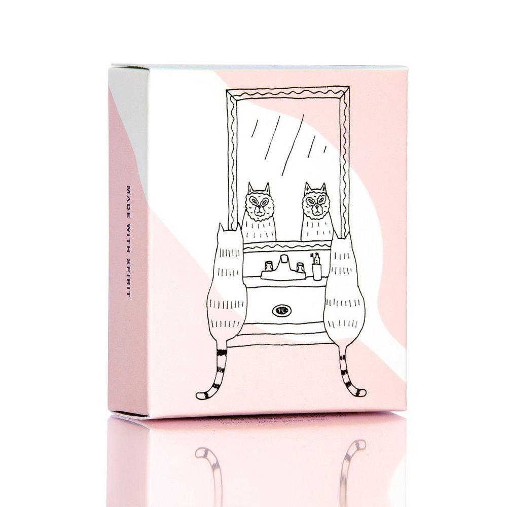 meow meow tweet pink rose clay soap bleu garters bridal garters