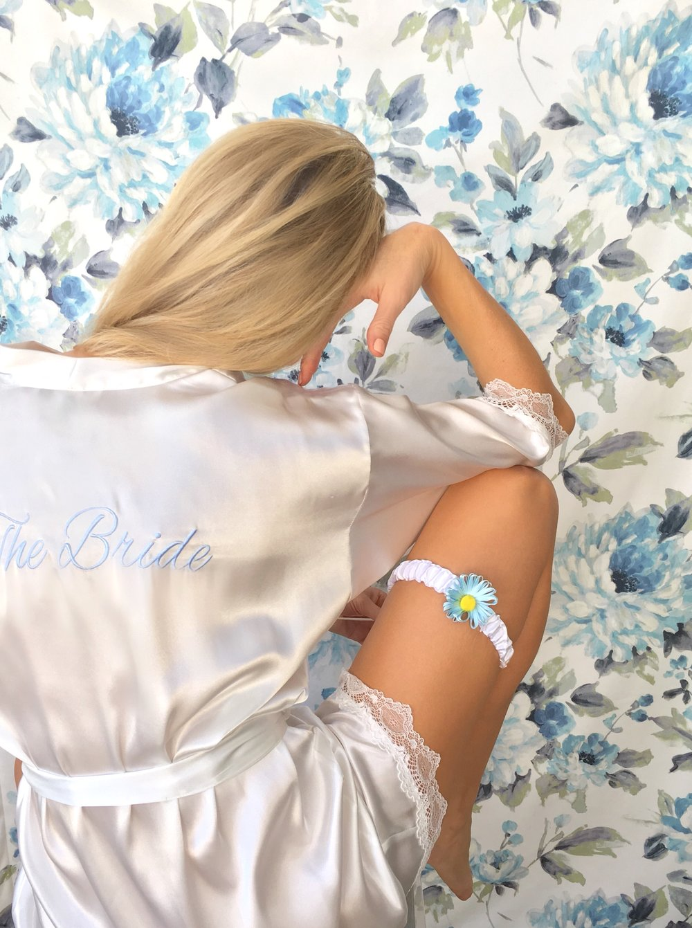 Unique wedding garters for bride by Bleu Garters
