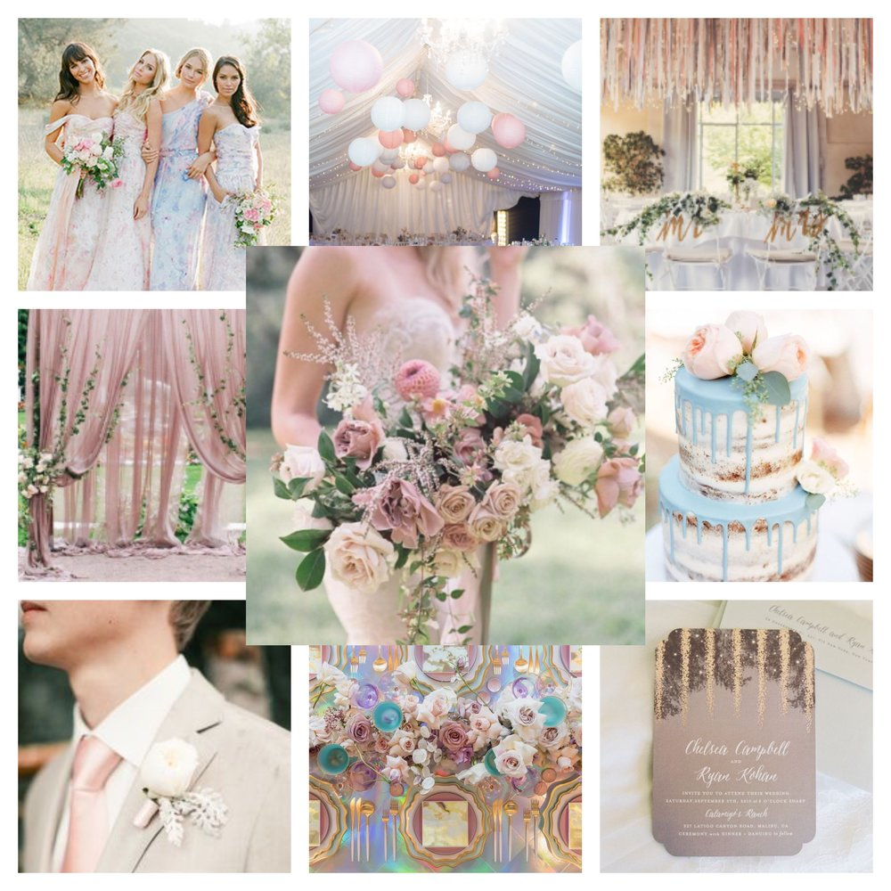 Soft Pastels Wedding Color Story