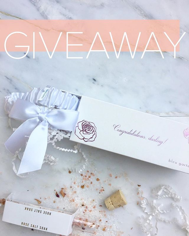 "✨ GIVEAWAY ✨ Just a couple hours left to enter!  To enter to win a bridal garter from @bleu_garters, a mini in-home ""cuddle session"" photo shoot from wedding photographer @michellelillywhite, a Valentine's Day flower arrangement from florist @with_flourish, and a rose bath salt soak from @urbapothecary, do the following:  1.) Like this post 2.) Follow @bleu_garters, @michellelillywhite and @with_flourish 3.) Tag an engaged friend (engaged couples in the San Diego and OC areas only please). Enter before midnight on the Wednesday the 13th. Winner will be chosen at random on Valentine's Day morning!  Good luck lovelies! ✨"
