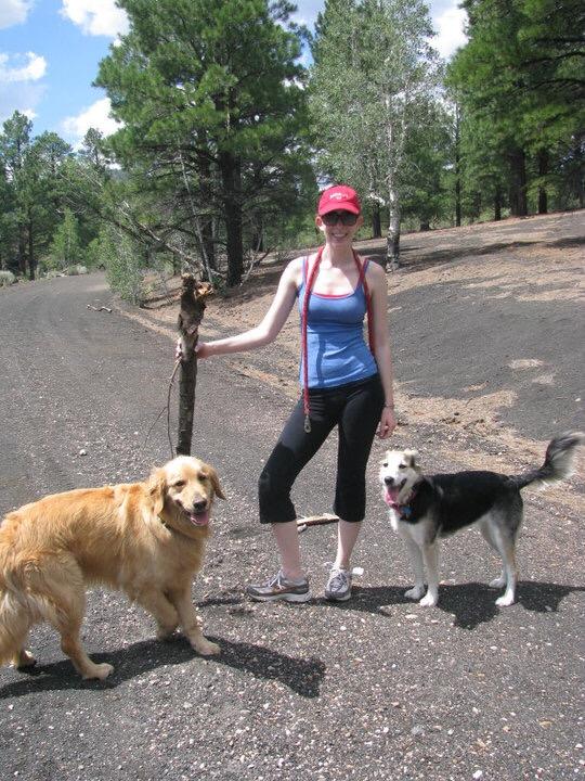 Hiking the volcano trails in Flagstaff, AZ.