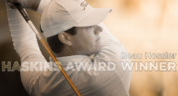 Beau Hossler wins Haskins award.  Click Here  to watch a video.