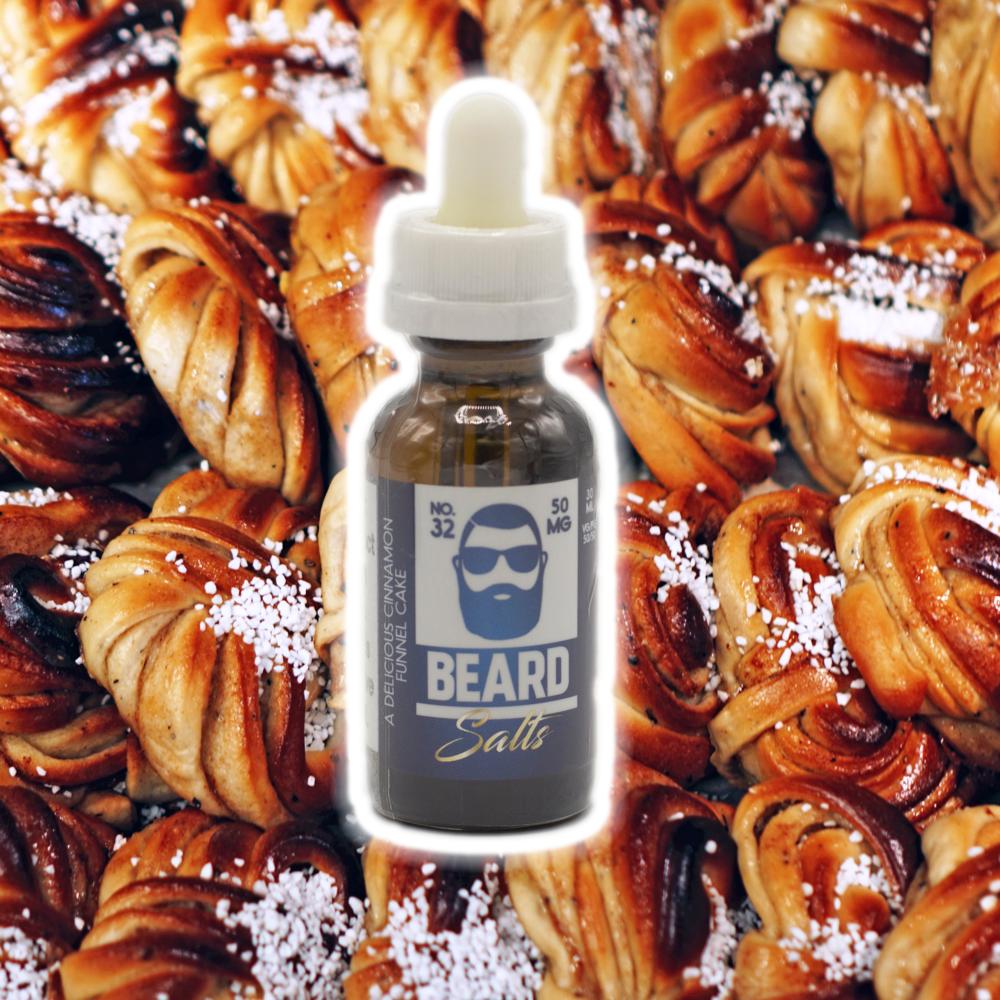 A Delicious Cinnamon Funnel Cake - 50mg - Beard Salts