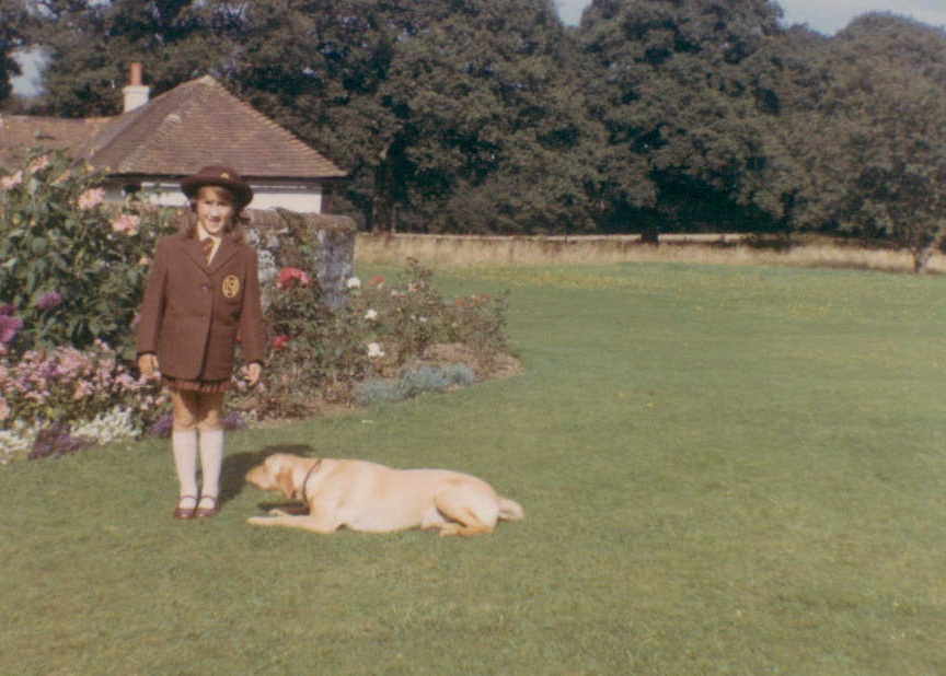 Me and my first dog, Toffee. (I told her EVERYTHING.) Photo circa 1967, Surrey England. Photo credit my mom, probably.
