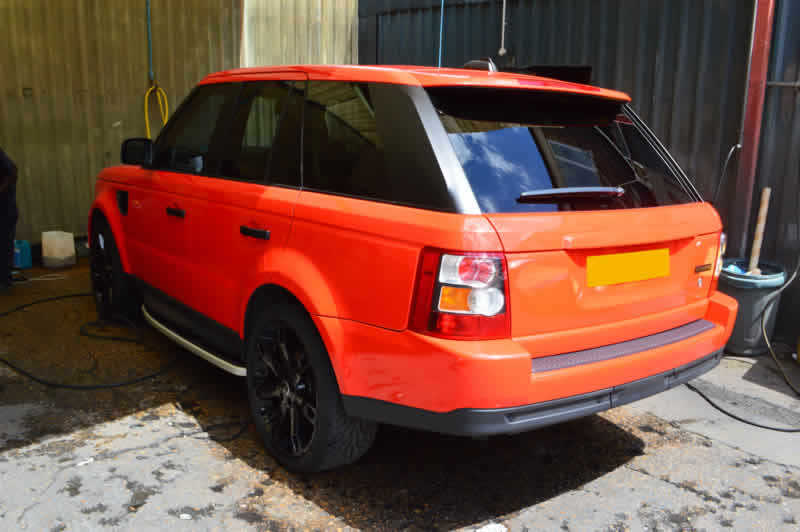 range rover dent damage repair in london