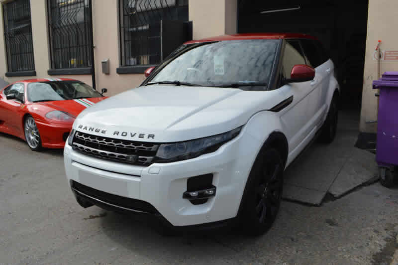 range rover evoque crash repair