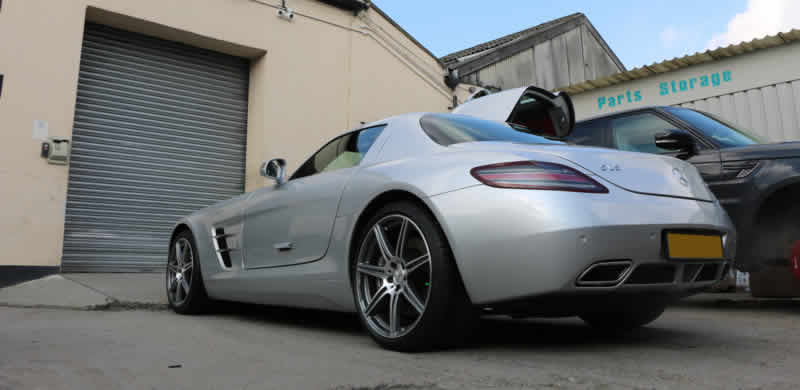 mercedes sls bumper repair