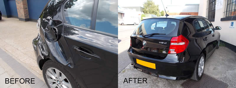 BMW bumper repair