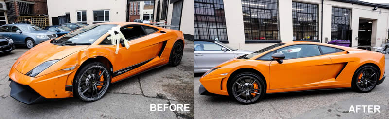 Lamborghini crash repair