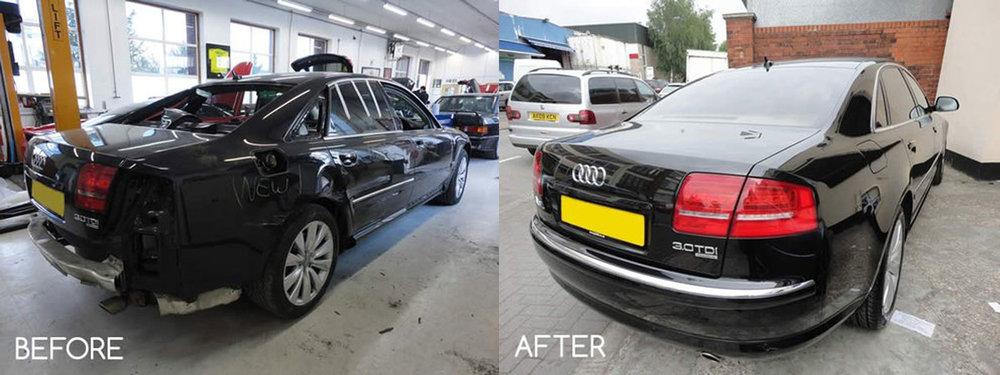 Audi bumper repair